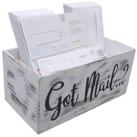 ABN5E155-WHT Got Mail Decor Box, White