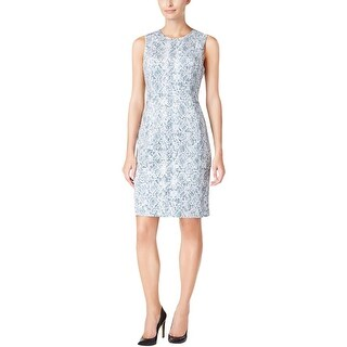 Calvin Klein Womens Petites Wear to Work Dress Snake Print Faux Suede