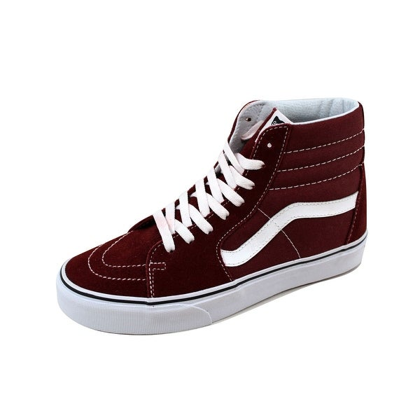 Shop Vans Men s SK8-Hi Madder Brown True White VN0A38GEOVK - Free ... 087a80cf4