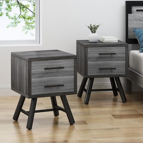 Plymouth Faux Wood Nightstands by Christopher Knight Home