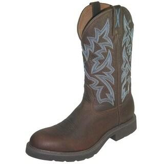 Twisted X Work Boots Mens Leather Steel Toe Waterproof Pebble MSCW001