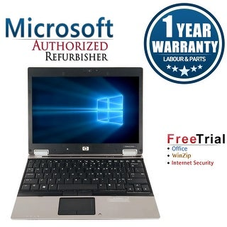 Refurbished HP EliteBook 2530P 12.1'' Laptop Intel Core 2 Duo SL9400 1.86G 2G DDR2 160G DVD Win 7 Home Premium 1 Year Warranty