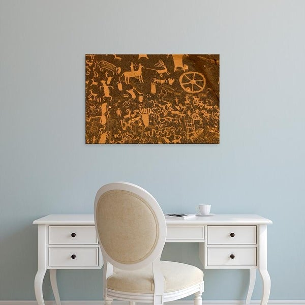 Easy Art Prints Paul Colangelo's 'Newspaper Rock Historical Monument' Premium Canvas Art