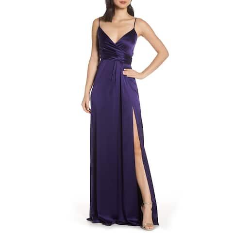 JILL STUART Purple Spaghetti Strap Full-Length Dress 0