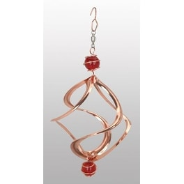 Red Carpet Studios Copper Cosmix Wind Spinner With Top And Bottom Marble 8 Inch