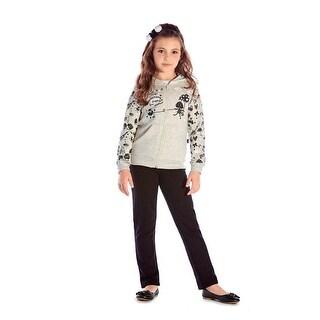 Girls Outfit Hoodie Jacket and Sweatpants Kids Winter Set Pulla Bulla 2-10 Years