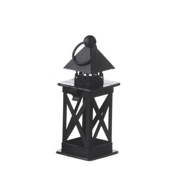 "6.25"" Alpine Chic Black Lantern Christmas Ornament by Midwest"