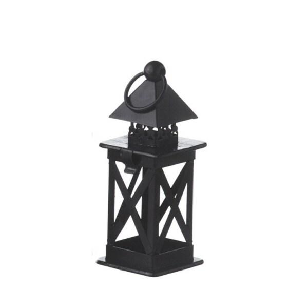 "6.25"" Alpine Chic Black Lantern Christmas Ornament"