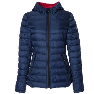 Link to HFX Womens Lightweight Packable Jacket, Marine Navy Red S Similar Items in Women's Outerwear