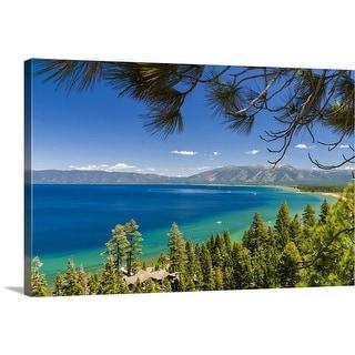 """Pine trees, Lake Tahoe, California, USA"" Canvas Wall Art"