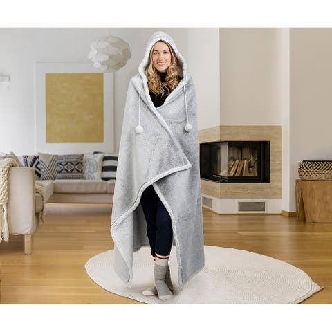 Hoodzy Blanket Frosted Grey