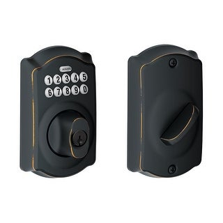 Schlage BE365-CAM  Camelot Electronic Keypad Single Cylinder Deadbolt