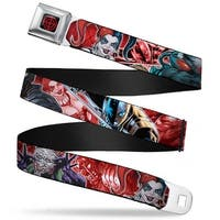Suicide Squad Target Full Color Black Red 5 Suicide Squad Villains Group Seatbelt Belt