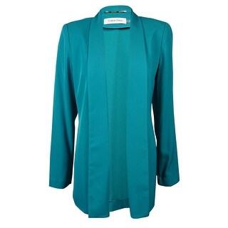 Calvin Klein Women's Shawl Lapel Long Sleeve Open-Front Blazer