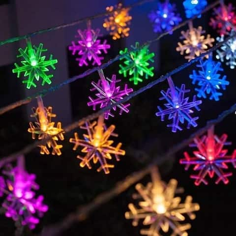 1.5M 10LED String Light Snowflake Christmas Lights Waterproof String Fairy Wedding Light Lamp Xmas Party Christmas Decor