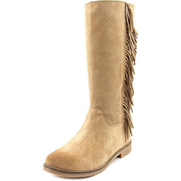 Lucky Brand Grayer Women Round Toe Suede Tan Mid Calf Boot