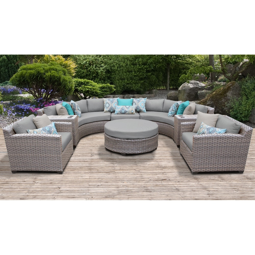 Florence 8 Piece Sectional Seating Group with Cushion