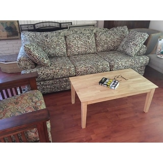 Shop shaker unfinished solid parawood tall coffee table - How tall is a coffee table ...