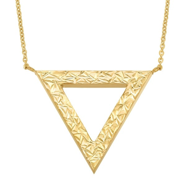 Eternity Gold Reversible Triangle Necklace in 14K Gold