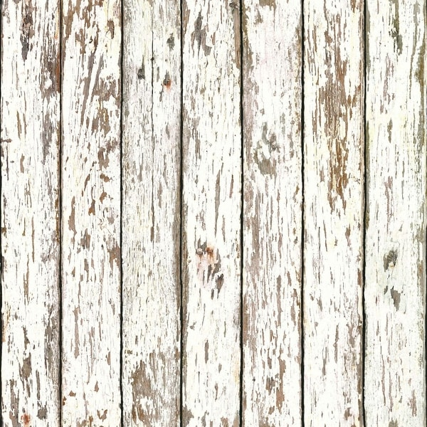 Brewster FFR13281 White Weathered Wood Wallpaper - white weathered wood - N/A