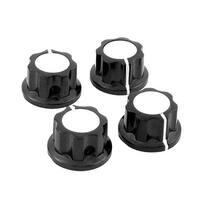Unique Bargains Kitchen 4 Pcs Black Plastic Pot Pan Lid Cover Handle Knobs