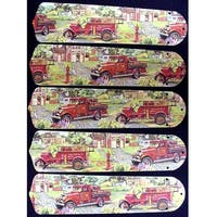 Firetrucks Custom Designer 52in Ceiling Fan Blades Set - Multi