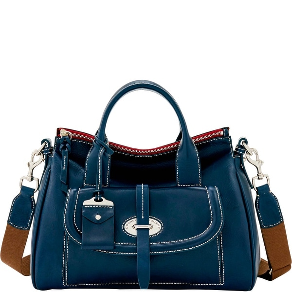 Dooney & Bourke Florentine Toscana Front Pocket Satchel (Introduced by Dooney & Bourke at $568 in Sep 2016) - Navy