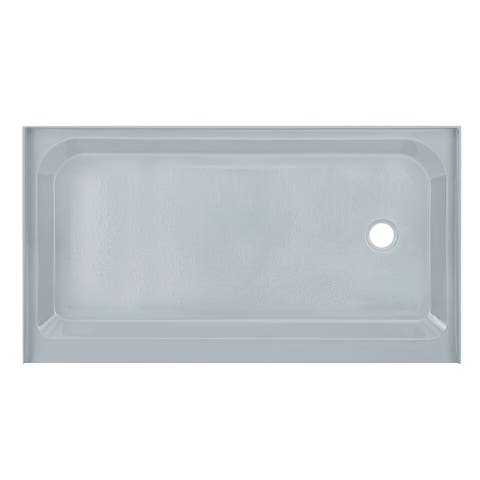 Voltaire 60 x 36 Single-Threshold, Right Drain, Shower Base, Grey
