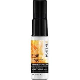Pantene Pro-V Fine Hair Touchable Volume Flexible Hold Hairspray, Travel Size 1 oz