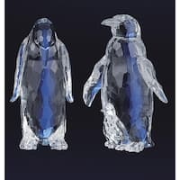 "Pack of 4 Icy Crystal Decorative Penguin Figurines 5.5"" - Clear"