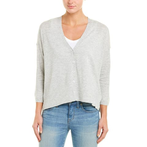 Lilla P Linen-Blend Cardigan - HHGY-HEATHER GREY