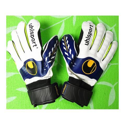 Latex Non-slip Thick Goalkeeper Gloves Roll Finger - Yellow - 10