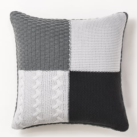 Sweater Knit Decorative Throw Pillow by Cozy Classics