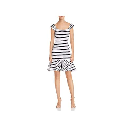 Milly Womens Brigitte Casual Dress Striped Fit & Flare