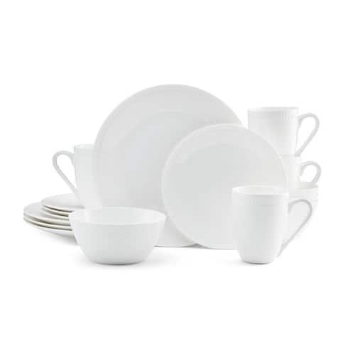 Mikasa Loria White Bone 16Pc Dinnerware Set (Service for 4)