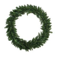 "48"" Buffalo Fir Artificial Christmas Wreath - Unlit - green"