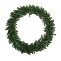 6' Buffalo Fir Commercial Size Artificial Christmas Wreath - Unlit - green