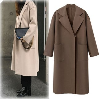 Link to Cashmere Woolen Coat Wool Coat Similar Items in Women's Outerwear