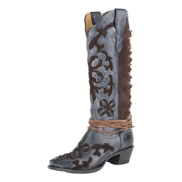 "Stetson Western Boot Women Ande 15"" Shaft Snip Toe"