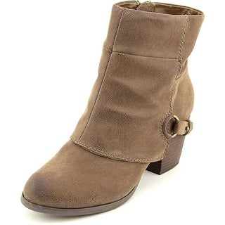 Fergalicious Liza Women Pointed Toe Synthetic Brown Ankle Boot