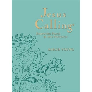 Jesus Calling Deluxe Edition-Large Print-Teal LeatherSoft by Young