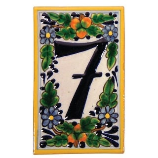 Native Trails TVR9720 Hand Painted House Number '7'