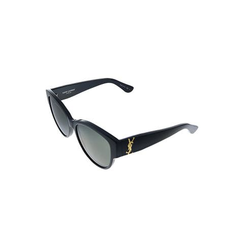 Saint Laurent SL M3 002 Womens Black Frame Grey Lens Sunglasses