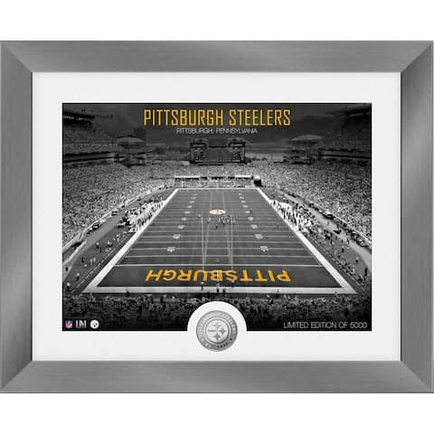 Pittsburgh Steelers Art Deco Stadium Silver Coin Photo Mint - 13x16