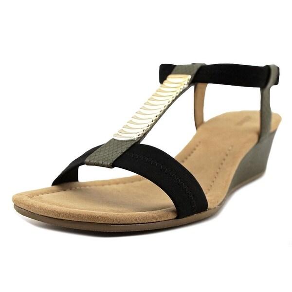 Alfani Vacay Women Open Toe Synthetic Green Wedge Sandal