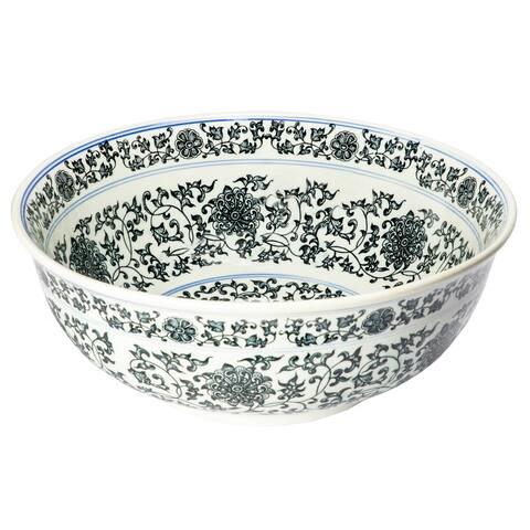 Multi-Color Ming Dynasty Decorative Porcelain Sink