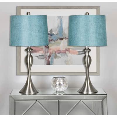 Grandview Gallery Curvy Metal Table Lamp (Set of 2)
