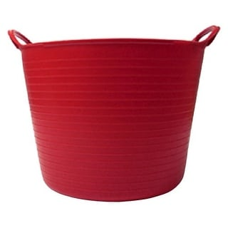 Tubtrugs SP26R 6.9 Gallon Flexible Storage Bucket, Red