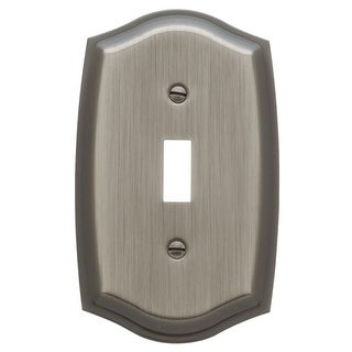 Baldwin 4756.CD Colonial Single Toggle Solid Brass Switch plate (More options available)