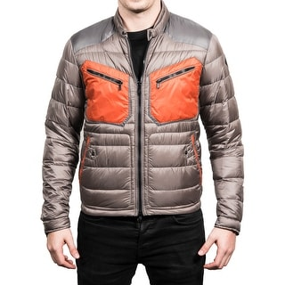 Moncler Men's Lizard Lightweight Down Jacket Grey